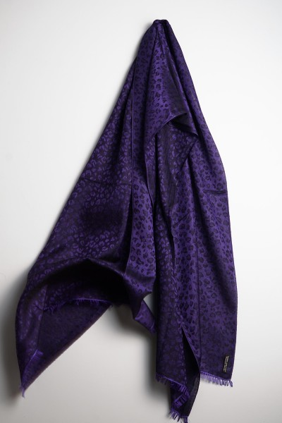 Water-Pashmina Leopard violet