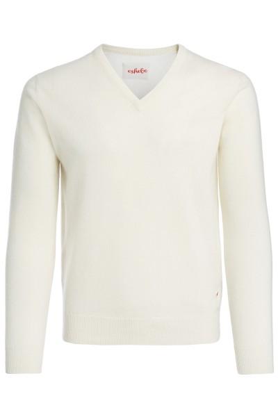 Kasjmier sweater V-hals heren offwhite