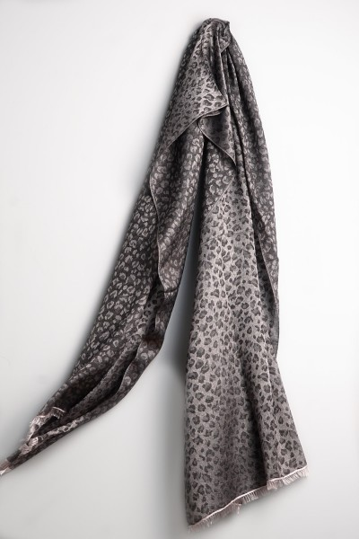 Water-Pashmina Leopard barely pink